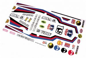 Area 51 Alien UFO themed vinyl stickers to fit R/C Tamiya Grasshopper